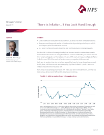 Strategist's Corner: There is Inflation…If You Look Hard Enough
