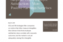 Surprise! High Employee Satisfaction = More Positive Earnings