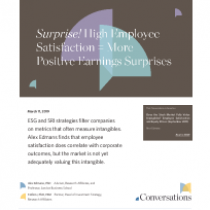 Surprise! High Employee Satisfaction = More Positive Earnings