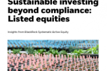 Sustainable investing beyond compliance: Listed equities