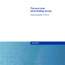 The euro area bank lending survey – Second quarter of 2019