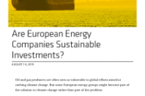 Are European Energy Companies Sustainable Investments?