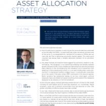 Asset Allocation Strategy September 2019