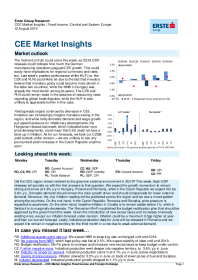 CEE Market Insights Fixed Income and Foreign Exchange