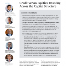 Credit versus Equities: Investing Across the Capital Structure