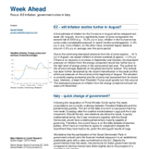 Focus: EZ-Inflation, government crisis in Italy