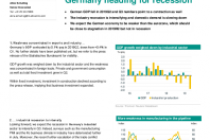Germany heading for recession