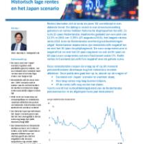 Historisch lage rentes en het Japan scenario