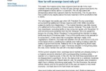 How far will sovereign bond rally go?