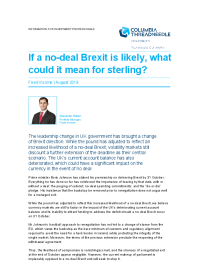 If a no-deal Brexit is likely, what could it mean for sterling?