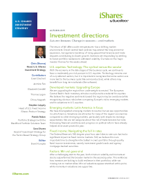 Investment directions – Autumn breezes: Change in seasons and markets