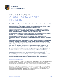 Market Flash: Global Data Worry Markets