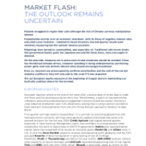 Market Flash: The Outlook Remains Uncertain