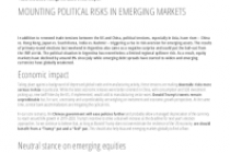 Mounting Political Risksin Emerging Markets