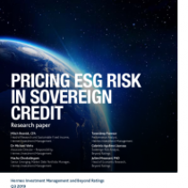 Pricing Esg Risk In Sovereign Credit