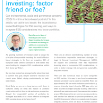 Responsible investing: factor friend or foe?