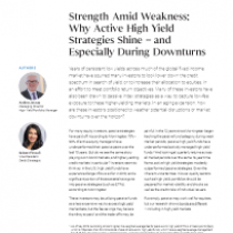 Strength Amid Weakness: Why Active High Yield Strategies Shine – and Especially During Downturns