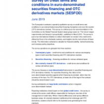 Survey on credit terms and conditions in euro-denominated securities financing and OTC derivatives markets (SESFOD) – June 2019