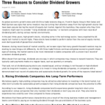 Three Reasons to Consider Dividend Growers