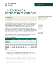 U.s. Economic & interest rate outlook