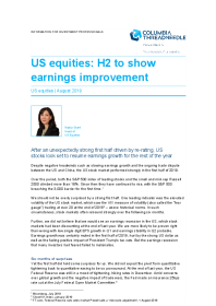 US equities: H2 to show earnings improvement
