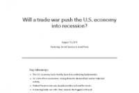 Will a trade war push the U.S. economy into recession?