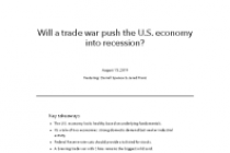 Will a trade war push the U.S. economy into recession?