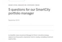 5 questions for our SmartCity portfolio manage