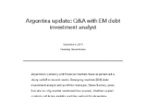 Argentina update: Q&A with EM debt investment analyst