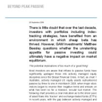 Beyond Peak Passive