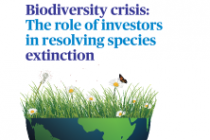 Biodiversity crisis: The role of investors in resolving species extinction