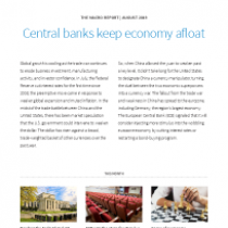 Central banks keep economy afloat