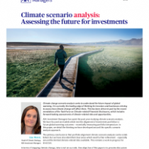 Climate scenario analysis: Assessing the future for investments