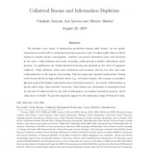 Collateral Booms and Information Depletion