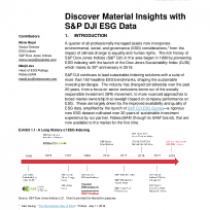 Discover Material Insights with S&P DJI ESG Data