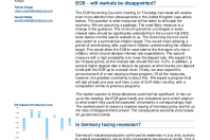 ECB – will markets be disappointed?