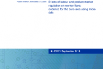 Effects of labour and product market regulation on worker flows: evidence for the euro area using micro data