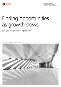 Finding opportunities as growth slows – Five-year capital market expectations