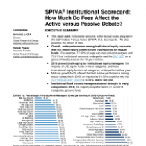 How Much Do Fees Affect the Active versus Passive Debate?