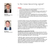 Is the noise becoming signal?