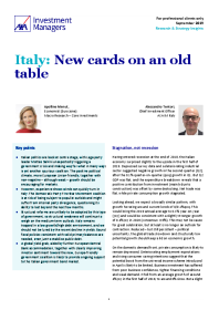 Italy: New cards on an old table
