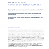 Market Flash: A Whiff Of Optimism Lifts Markets