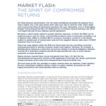 Market Flash: The Spirit Of Compromise Returns