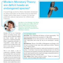 Modern Monetary Theory: are defcit hawks an endangered species?
