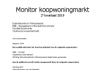 Monitor koopwoningmarkt 2 e kwartaal 2019