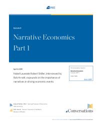 Narrative Economics Part 1
