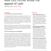 Rate cuts further erode the appeal of cash