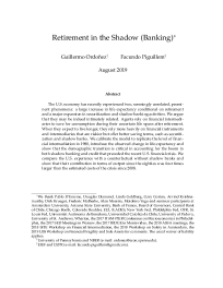 Retirement in the Shadow (Banking)
