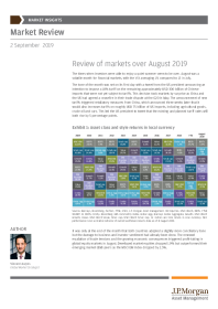 Review of markets over August 2019