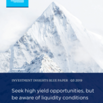 Seek high yield opportunities, but be aware of liquidity conditions